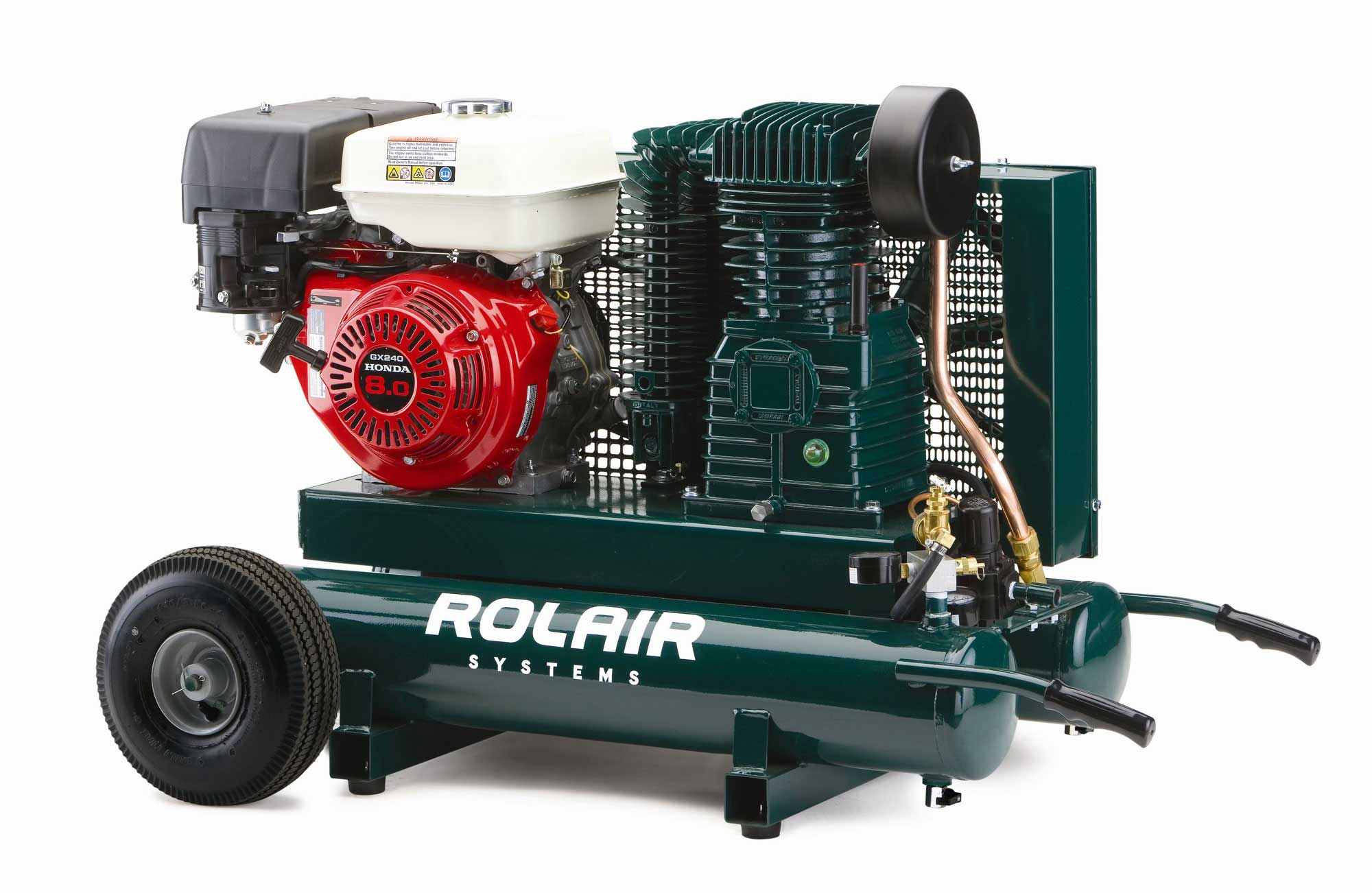 Rolair 9 HP 9 Gallon Gas Portable Air Compressor w/Honda Engine