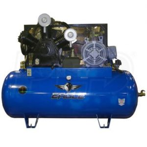 Eagle 153120H2-CS460 Horizontal Air Compressor 15 HP w/ Combo