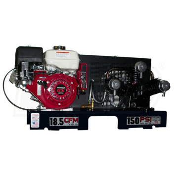 Eagle 9GSKTRKE-H Skid Mount Air Compressor Honda Powered