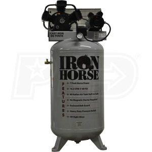 Iron Horse IHD7180V2-MS Upright Air Compressor 7.5 HP