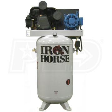 Iron Horse IHD7380V2-CS2 Upright Compressor W/ Mag Starter
