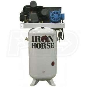 Iron Horse IHD7380V2-CS4 Upright Compressor W/ Mag Starter 7.5 HP
