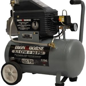Iron Horse IHHP1065L Pull Style Air Compressor 1 HP