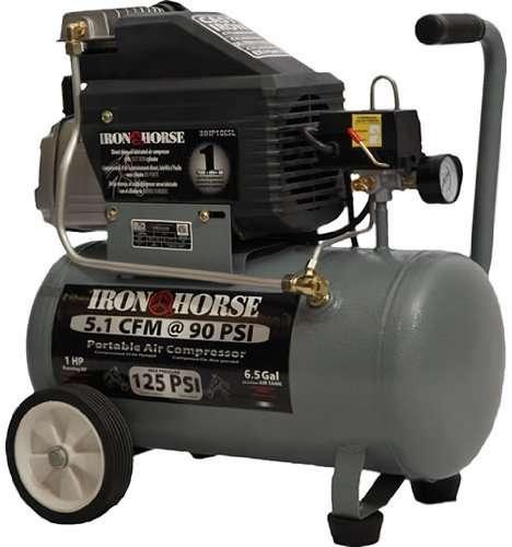 Iron Horse IHHP1065L Pull Style Air Compressor 1 HP