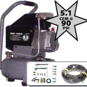 Iron Horse IHP104L Hand Carry Pancake Air Compressor 1 HP