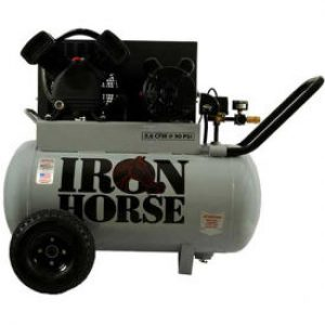 Iron Horse IHP5120H1 Horizontal Air Compressor - Portable 5 HP