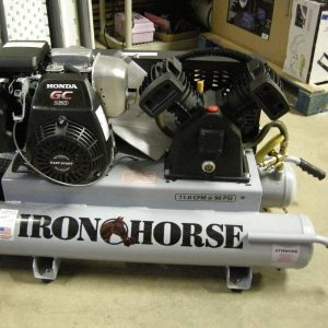 Iron Horse IHTT50G-GG Stationary Air Compressor Honda Engine