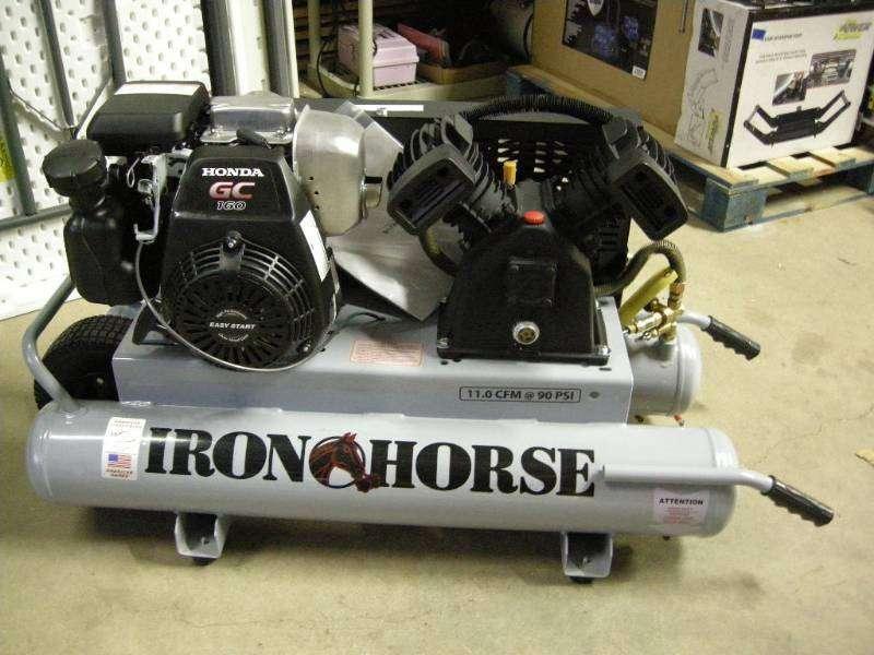 Iron Horse IHTT50G-GG Stationary Air Compressor Honda Engine