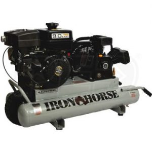 Iron Horse IHTT90G Stationary Compressor W/ Twin Tank