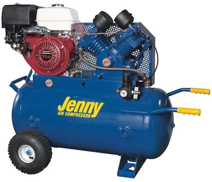 Jenny W11HGB-30P Portable Air Compressor 21 CFM