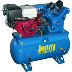 Jenny W11HGB-PT Trailer Air Compressor Gas Power
