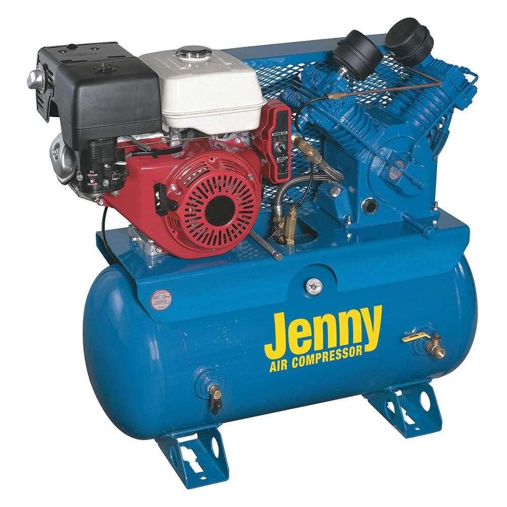 Jenny W13HGB-PT Trailer Air Compressor 1 HP