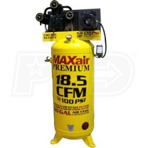 MaxAir C5160V1-MAP Upright 18.5 CFM Air Compressor