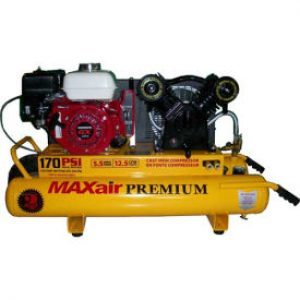 MaxAir TT55GE-MAP Wheelbarrow Air Compressor W Twin Tank