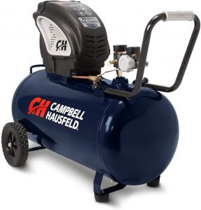 Air Compressor, Portable, Horizontal, 20 Gallon, Oil-Free