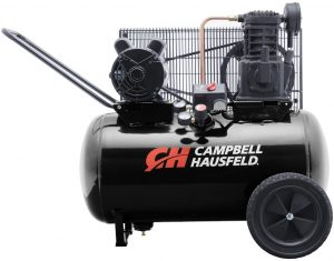 Air Compressor, Portable, 20 Gallon Horizontal Tank, Single Stage