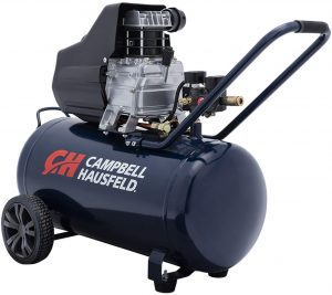 ampbell Hausfeld Air Compressor, 13-Gallon Horizontal Oil-Lubricated 3.8 CFM 1.3HP 120V 10A (DC130000)