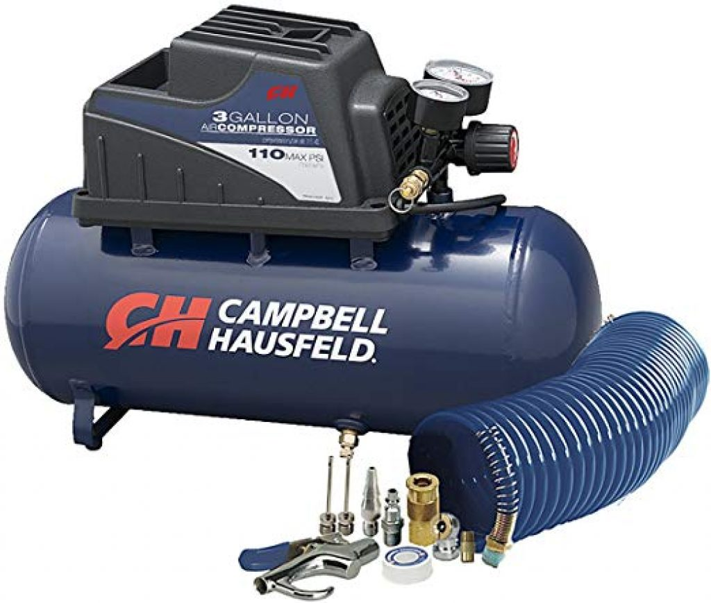Campbell Hausfeld 10 Piece Accessory Kit, 3-Gallon Air Compressor