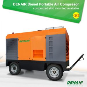 Towable Industrial Air Compressor