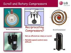 Scroll Compressor vs Rotary Compressor